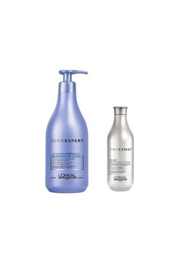 L'oreal Professionnel Loreal Serie Expert Silver Krem 100 Ml+Blondifier Şampuan 500 Ml Renksiz